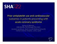 Prior antiplatelet use and cardiovascular outcomes in patients ...