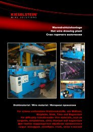 Warmdrahtziehanlage Hot wire drawing plant Стан горячего ...