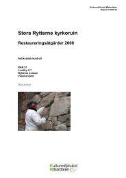 Stora Rytterne kyrkoruin - Stiftelsen Kulturmiljövård