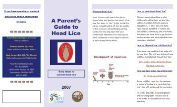 A Parent's Guide to Head Lice (California Department of ... - Toolkit