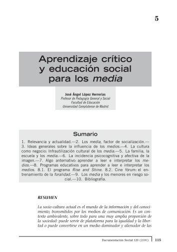 Aprendizaje crítico y educación social para los media