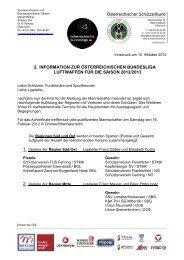 2. information zur österreichischen bundesliga luftwaffen für ... - ÖSB