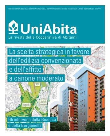 La scelta strategica in favore dell'edilizia convenzionata e ... - Uniabita