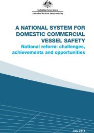 A NAtioNAl system for domestic commerciAl vessel sAfety