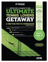 TENNIS LOVERS - Life Time Fitness