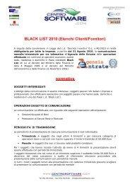 BLACK LIST 2010 - Centro Software