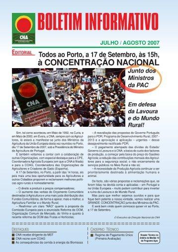 Boletim Informativo Julho/Agosto de 2007 - CNA