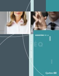 Rapport annuel de gestion 2008-2009 du ministère de la Justice.