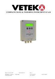 MANUAL rev 01 2005 eng LCA-D.pdf - Vetek Scales
