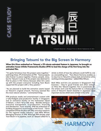 Bringing Tatsumi to the Big Screen in Harmony - Toon Boom ...
