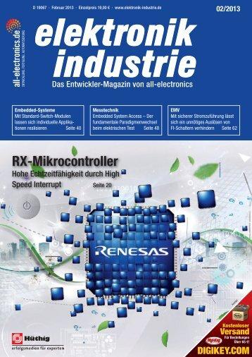 RX-Mikrocontroller - elektronik industrie