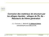 Corrosion des matériaux de structure par les alliages ... - gedepeon
