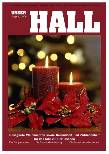 Gesegnete Weihnachten sowie Gesundheit und ... - Gemeinde Hall