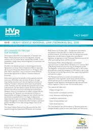Heavy Vehicle Reform Legislation Fact Sheet - Transport
