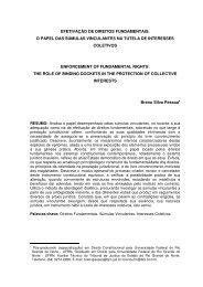efetivação de direitos fundamentais: o papel das ... - Defensoria