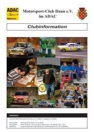 Clubinformation Motorsport-Club Daun e.V. im ADAC - MSC Daun