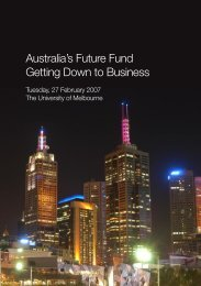 Australia's Future Fund Getting Down to Business - Australian ...