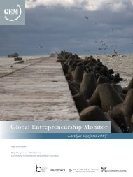 Global Entrepreneurship Monitor - BICEPS