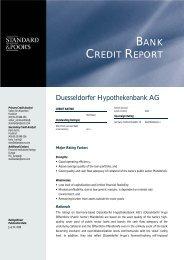 BANK CREDIT REPORT - Düsseldorfer Hypothekenbank AG