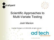 Scientific Approaches to Multi-Variate Testing