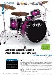 Mapex Saturn Series Plus Bass Rock 24 Kit Mapex Saturn Series ...