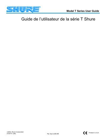 shure ut wireless user guide french rh yumpu com shure sm58 user guide shure sm57 user guide