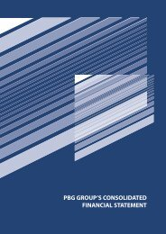 Chapter 4: PBG Capital Group consolidated financial ... - PBG SA