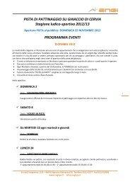 calendario degli eventi - Turismo Comune di Cervia