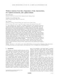 Methane emissions from lakes: Dependence of lake characteristics ...