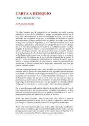 Carta a Hesiquio. Por San Juan de la Cruz.