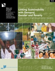A Study of Community Managed Water Supply (World Bank).