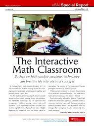 Interactive Math Classroom... - eSchool News