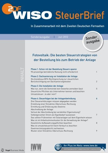 Steuertipps zum Thema Photovoltaik - hinterleitner.de