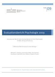 Evaluationsbericht Psychologie 2009