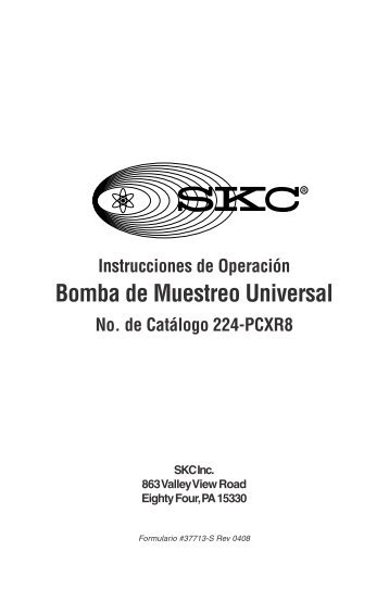 Instrucciones de Operaci.n Bomba de Muestreo Universal ... - SKC Inc.