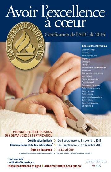 Certification de l'AIIC de 2014 - NurseONE