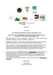 vabilo in program - Geografski inštitut Antona Melika - ZRC SAZU