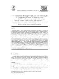 The consensus string problem and the complexity of comparing ...