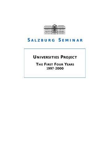 Salzburg Seminar – Universities Project - Milika Dhamo