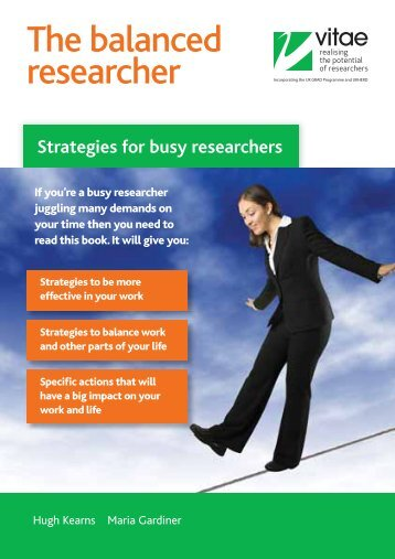 The balanced researcher: Strategies for busy researchers - Vitae