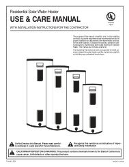 USE & CARE MANUAL - Ruud.com