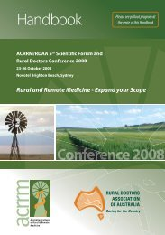 Handbook - Australian College of Rural and Remote Medicine
