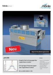 Produktinformation jetCURE - Dr. Hönle AG