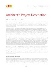 Architect's Project Description - Art Gallery of Alberta