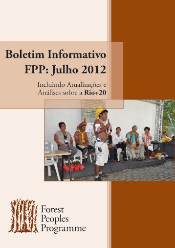 Boletim Informativo FPP: Julho 2012 - Forest Peoples Programme