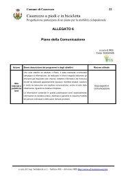 6) Il piano della comunicazione - Agenda 21 Est Ticino
