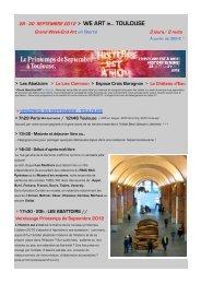 Programme We ART in TOULOUSE - Connaissance de l'Art ...