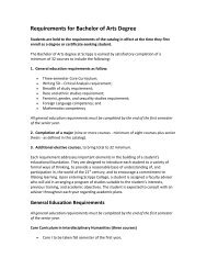 Requirements for Bachelor of Arts Degree - Scripps College