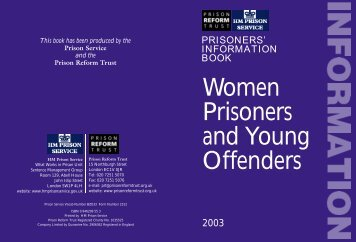 Womens Prisoner's Information Book - Young Southampton