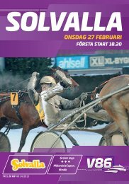 ONSDAG 27 FEBRUARI - Solvalla